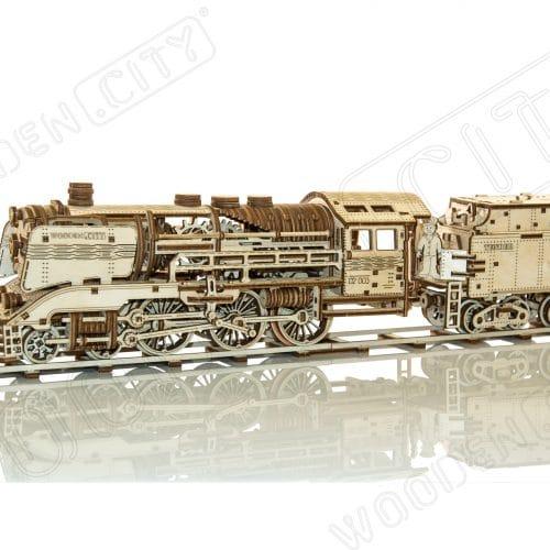 wooden city express + tender + tory kolejowe prezentacja