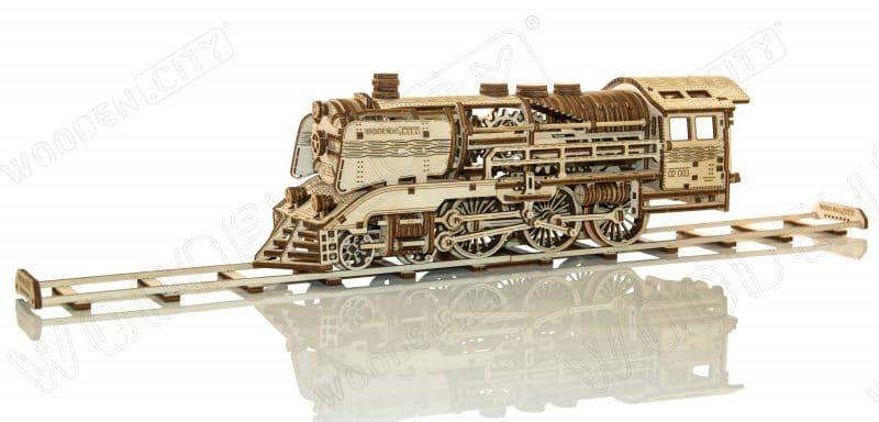 wooden city express + tory kolejowe zdjęcie modelu