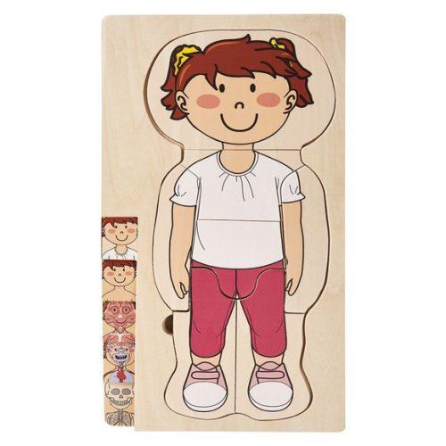 playtive junior puzzle ciało dziewczynki prezentacja