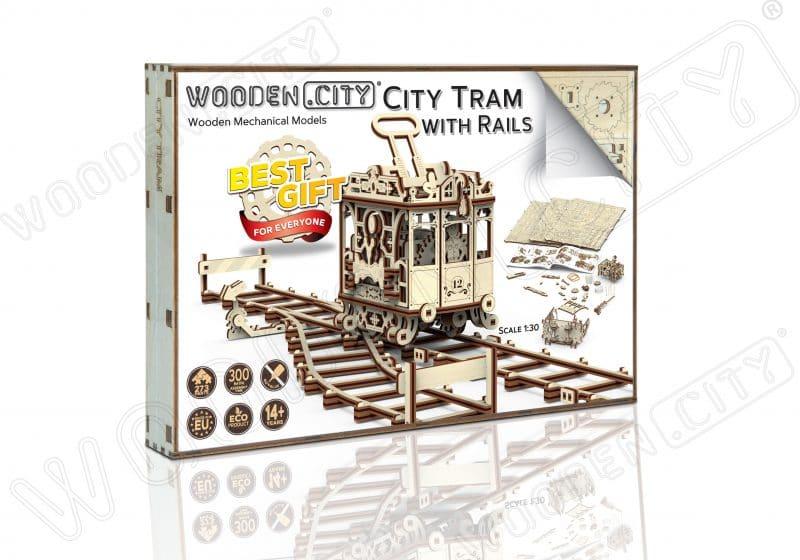 wooden city tramwaj + tory kolejowe opakowanie