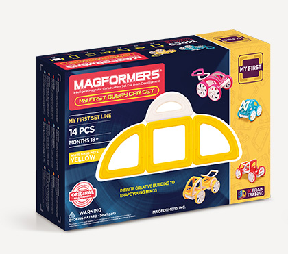 magformers my first buggy car set klocki magnetyczne 3D prezentacja