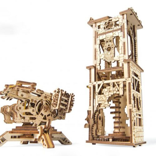 ugears wieża arkbalistyczna prezentacja