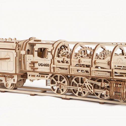 ugears lokomotywa ug 460 z węglarką prezentacja