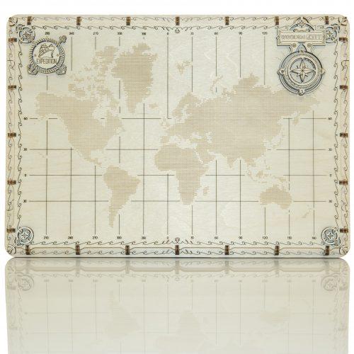 wooden city ekspedycyjna prezentacjamapa świata kropki