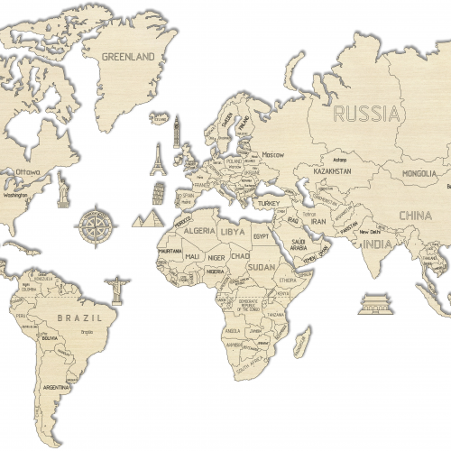 wooden city mapa świata rozmiar xl