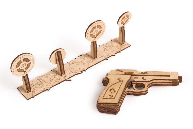 wood trick pistolet gun m1 obrócony