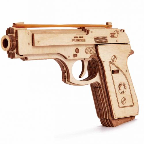 wood trick pistolet gun m1 prezentacja