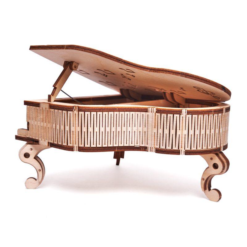 wood trick fortepian z pozytywką odwrócony