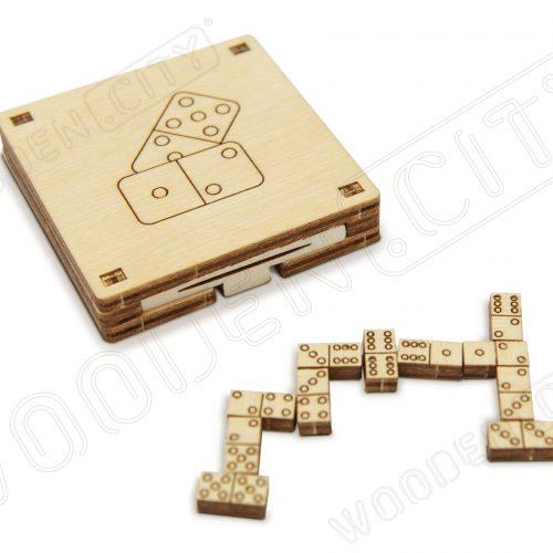 wooden city podróżne domino pokazanie gry