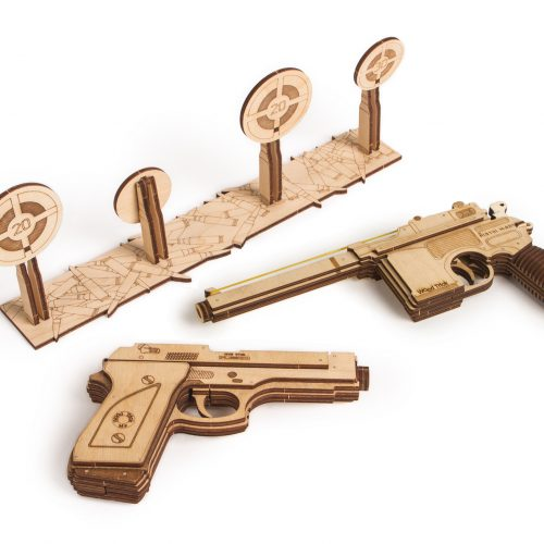 Wood Trick zestaw pistoletów prezentacja