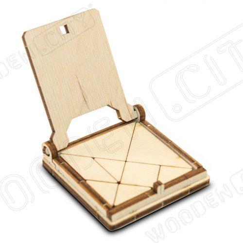 wooden city podróżna układanka tangram prezentacja