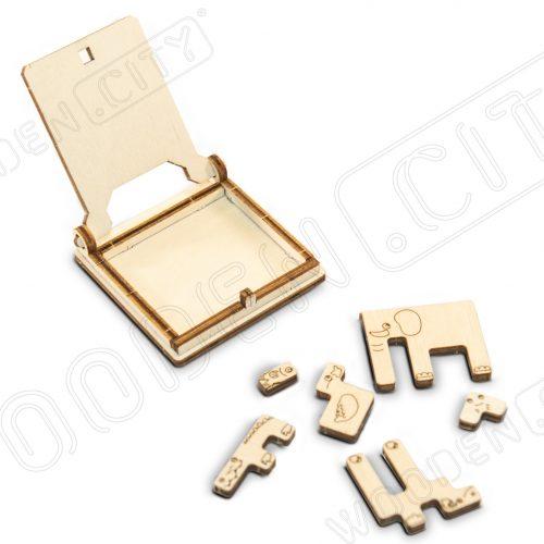 wooden city podróżne zoo puzzle prezentacja