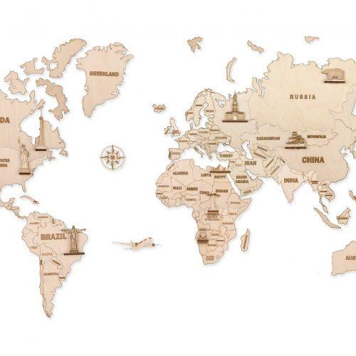 wood trick drewniana mapa świata prezentacja xxl