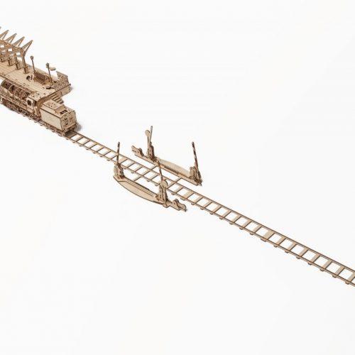 ugears szyny z przejazdem kolejowym prezentacja